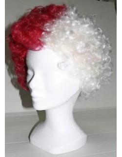 image: Parrucca bianco - granata