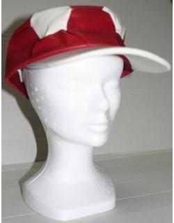 image: Cappello forma pallone in cuoio