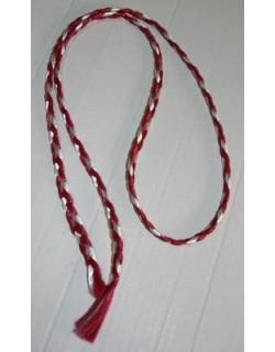 image: Treccine capelli bianco - granata