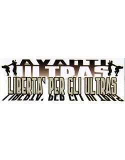 """image: Adesivo """"Libertà per gli ultras"""""""