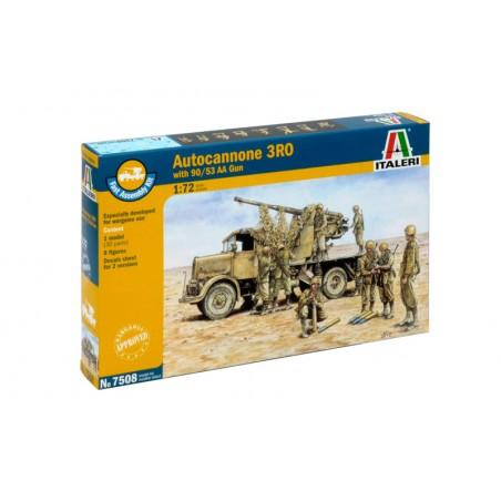 AUTOCANNONE 3RO WITH90/53 AA GUN ITALERI 7508