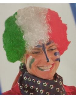 Parrucca tricolore riccia