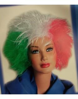Parrucca tricolore liscia