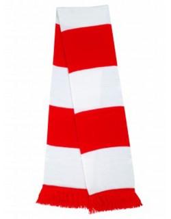image: Sciarpa a bande biancorossa
