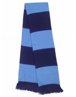 image: Sciarpa a bande bluazzurra