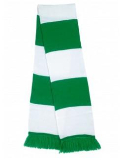 image: Sciarpa a bande biancoverde