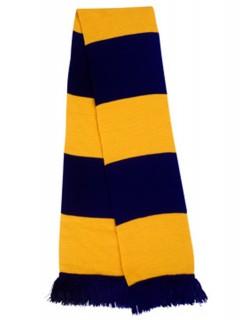 image: Sciarpa a bande gialloblu