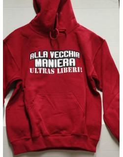 """image: Felpa """"Libertà per gli ultras"""" N°15R Taglia S"""