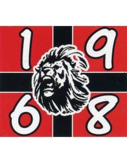 image: Adesivo Milan 1968 e leone FdL